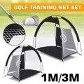 3 m/1 m plegable de Golf contra jaula de entrenamiento de red entrenador negro 210D cifrado Oxford paño + poliéster duradero construcción robusta