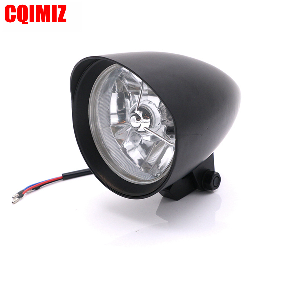 Aluminum Bullet Style Motorcycle Headlight For Harley Chopper Bobber Custom Bike
