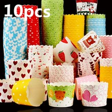 Lot color 20 pcs cupcake liner baking cup paper muffin cases Cake box Cup tray cake mold decorating tools