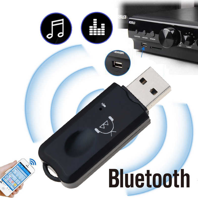 USB AUX Bluetooth Ontvangen Draadloze Audio Adapter Stereo met Microfoon voor USB Auto MP3 Player Speaker Bluetooth Zender