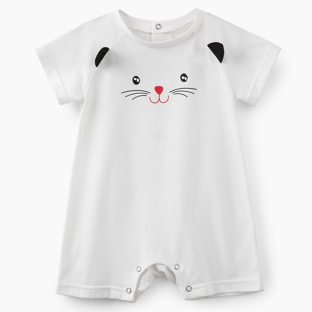 Cute Cat Print Baby Romper Cotton Baby Swimsuit 1st