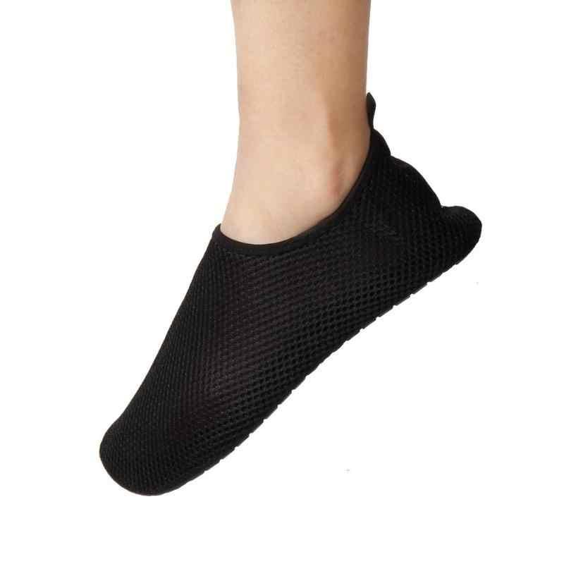 1 paar Outdoor Mesh Sandalen voor Vrouwen Mannen Platte Wade Schoenen Strand Zwemmen Vinnen Schoen sapato feminino Zomer Ademend Strand schoenen