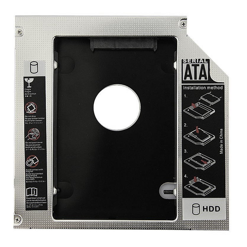 Hot Sale Universal Aluminum 12.7mm SATA 2.0 2nd HDD Caddy 2.5