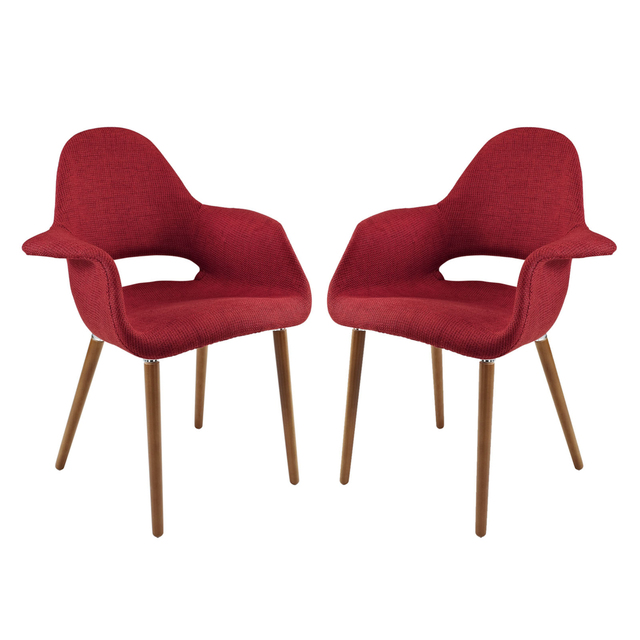 Aegis Dining Armchair Set Of 2 Eei 1329 Red