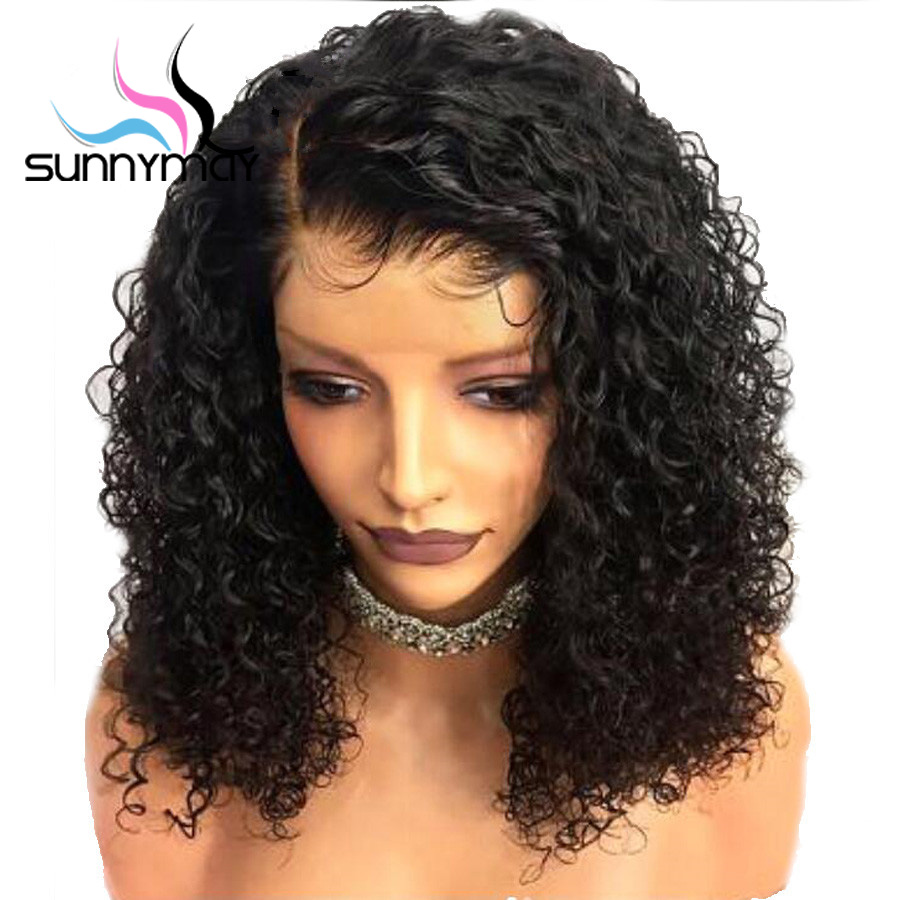 Sunnymay 13x4 Curly Lace Front Human Hair Wigs With Baby Hair Pre Plucked Brazilian Remy Glueless Lace Front Wigs For Women