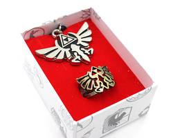 Легенда о Зельде дыхание кольцо на палец neckalce Косплей металлическое кольцо Ссылка аксессуары к костюму для Косплей кольцо кулон коробка