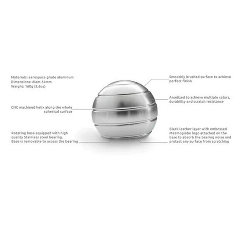 Festive & Party Supplies Desktop Decompression Rotating Spherical Gyroscope Kinetic Desk Toy Fidget Toy Optical Illusion Flowing Finger Toy For Adult