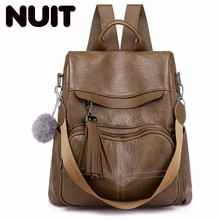 Women Backpack Soft Pu Leather Large Capacity Leisure Time Korean Travel Both Shoulders School Bags Woman Bagpack