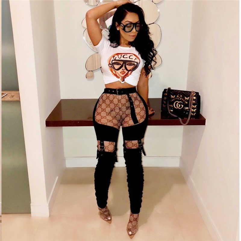 PU Lederen Nachtclub Potlood Broek vrouwen Hollow Out Party Bodem Hoge Taille Patchwork Sexy Broek 2019 Zomer Pantalon Mujer