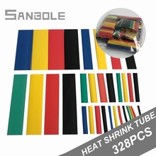 цена на Heat Shrink Tube tubing 328pcs Cable Sleeves combined Electrical Rubber Insulation Shrinkage Assorted Polyolefin Wrap Wire