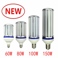 2835 60 w led 전구 80 w 큰 옥수수 램프 100 w 가로등 120 w 야드 램프 e27 e39 e40 공장 창 고 높은 베이 빛 옥수수 램프