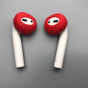 Image 2 - 1 пара силиконовых вкладышей для наушников, гарнитура с крючком для Apple, аксессуары для Airpods 2