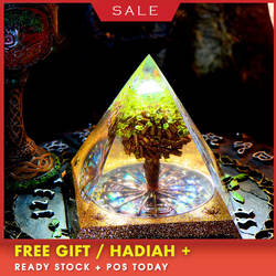 Оргонит большая пирамида аура Вселенной Древо жизни энергии башня Aogen семь чакр аксессуары смола декоративные ремесло ювелирные изделия