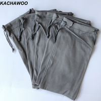 Kachawoo 100PCS Gray Bag for Sunglasses Soft Pouch Storage for Glasses Reading Glasses Bag Customize Logo Wholesale