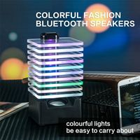 Colorful Flash Lamp bluetooth Speaker With English Instruction Charge Data Line Colorful Light Tube Wireless Version