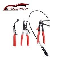 NS Modify 3Pcs/set Car Repair Hose Removal Tool Cable Type Flexible Wire Long Reach Hose Clip Pliers