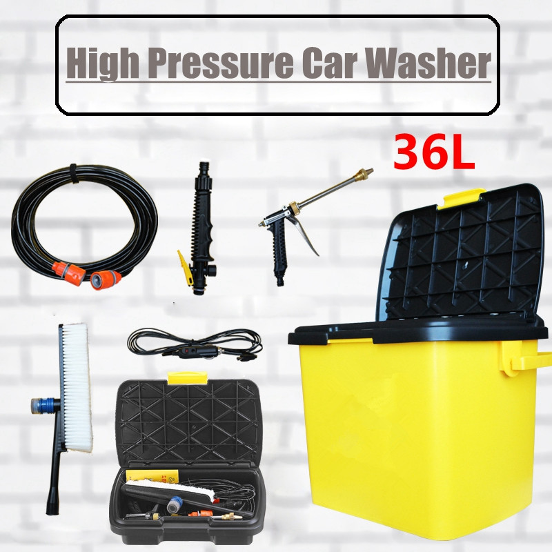 Autoleader 1Set  Portable High Pressure Electric Car Washer Cleaner Water Pump Cigarette Lighter Interface Cleaning 36L 90W