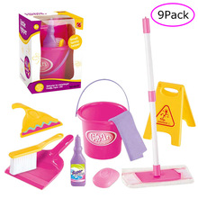 Baby Girl and boy Play Housekeeping Toys Mini Broom/Mop/Bucket/Dustpan/Cleaning Brush Wash cognitive enlightenment Education Toy