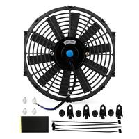 Car Fan 12 Inch 12V 80W Electric Universal Auto Cooling Radiator Fan Push Pull Electric Radiator Slim Fan 1550 CFM with Mounting