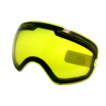 COPOZZ brand double brightening lens for ski goggles of Model Number GOG-201 increase the brightness Cloudy night to use