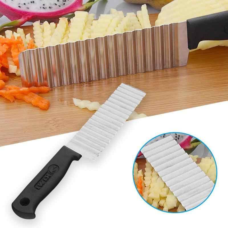 2019 Новый нож для Картофель фри из нержавеющей стали с зубчатым лезвием для фруктов, волнистый нож для детских аксессуаров, кухонные ножи