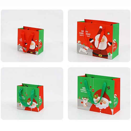 2X Style Santa Paper Gift Bags Christmas Party Holiday Cookies Candy Bag  US