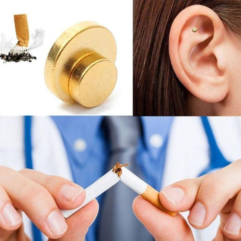 2pcs Auricular Zerosmoke Magnets Acupressure Therapy Quit Smoking Magnet Patch Not Cigarettes Health Therapy