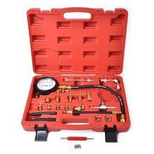 TU 114 Universal inyector de combustible, bomba de inyección, probador de presión, Kit de medidor de herramientas de coche, Kit de Sensor de calibre, manómetro automático, testículo de motor