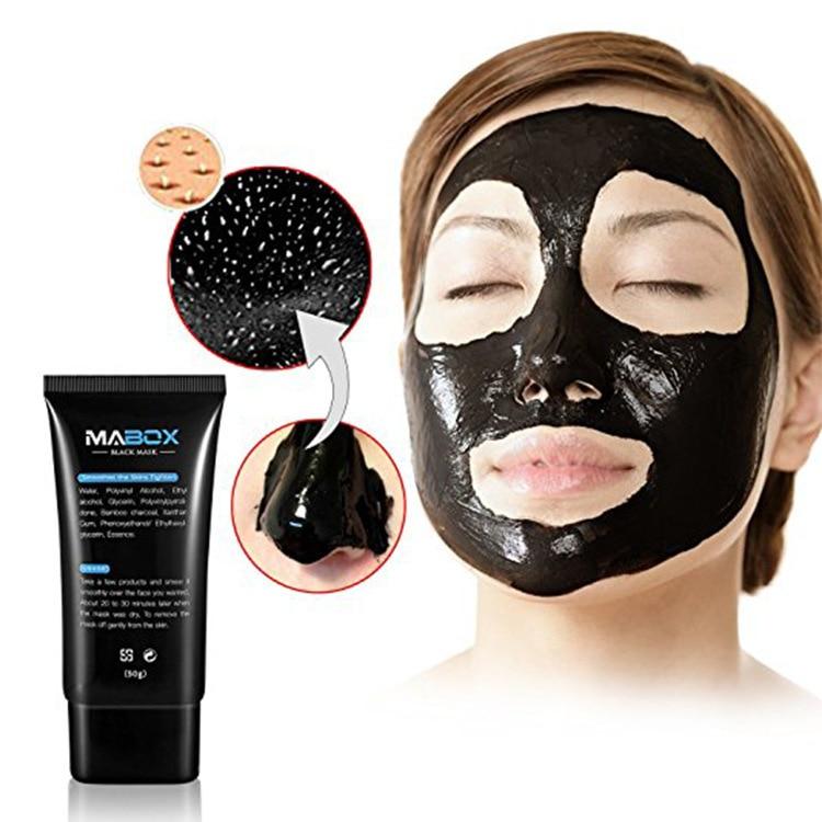 MABOX Blackhead Remover Nose Black Mask Face Care Mud Acne Treatment Peel Off Mask Pore Strip Skin Care Peel Mask Oil Control Комедон