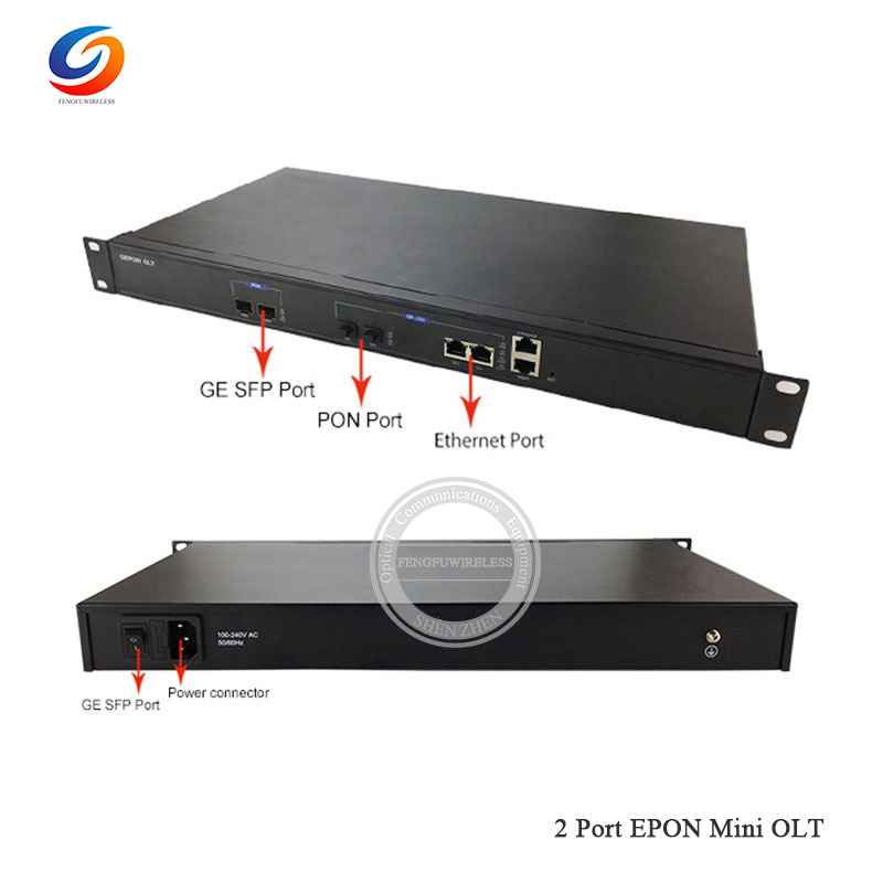 2018 Hottest 1g Mini 2 Port Epon Olt Suitable For Huawei Zte Fh Onu Ont With Sfp Modules