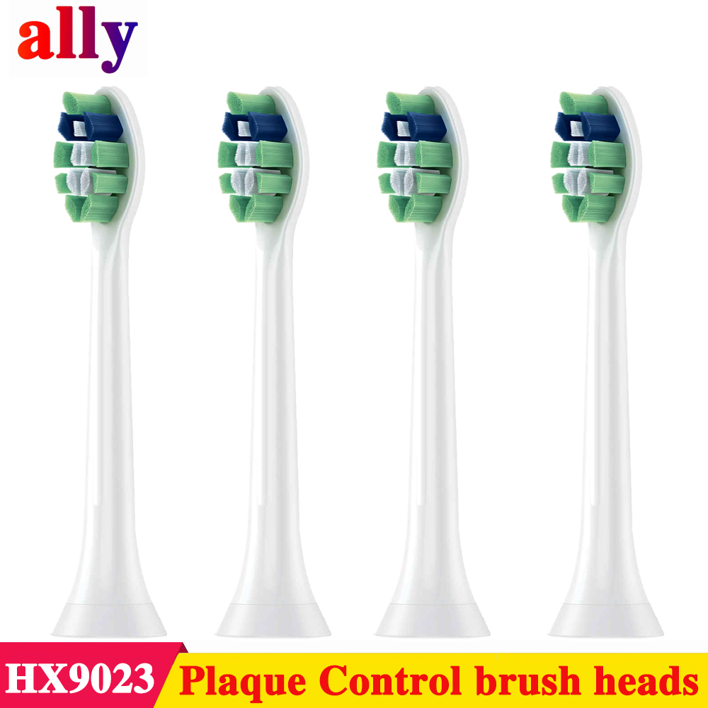 4pcs Ally Electric Toothbrush Head For Philips Sonicare Optimal Plaque Control Replacement Toothbrush Heads HX9023/65 HX6730