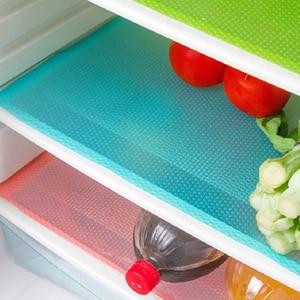 Image 2 - 1pcs Refrigerator Pad Antibacterial Antifouling Mildew Moisture Absorption Pad Refrigerator Mats Fridge Moisture Liners
