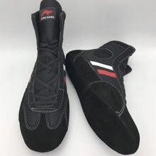 Домашняя обувь с мягкой подошвой для борьбы, Профессиональные боксерские бои, кожаные кроссовки для тренировок, спортивные ботинки размера плюс A9059