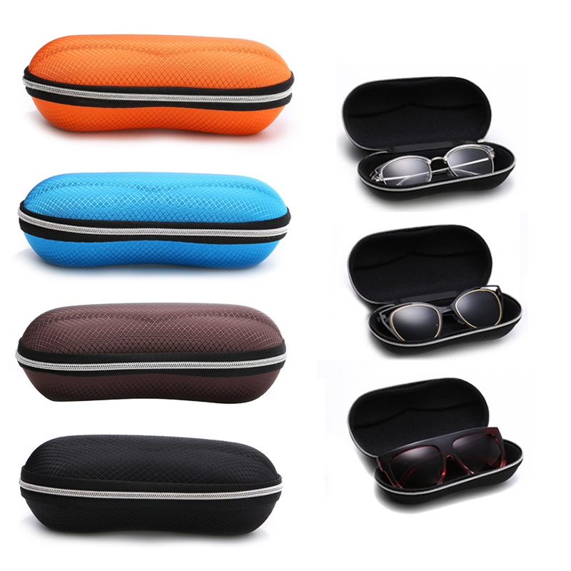 1PC Compression Resistance Popular With Zipper Eyewear Case Glasses Box Sunglasses Case Portable Eyewear Accessories