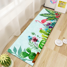 Flamingo 3D Printing Hallway Carpets,Kitchen Bathroom Antiskid Mats, Bedroom Living Room Tea Table Rugs