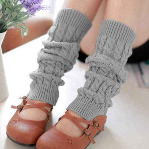 Womens Leg Warmers 2019 New Womens Warm Knitted Leg Warmers Solid Color High Elasticity Long Leg Warmers