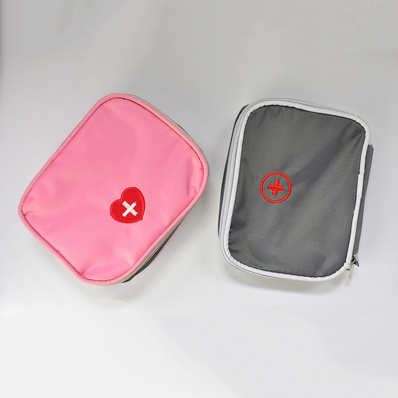 Top Sale Medicine Outdoors Camping Hunt Pill Storage Bag Travel First Aid Bag Survival Kit Emergency Kits HotSale Pink Grey