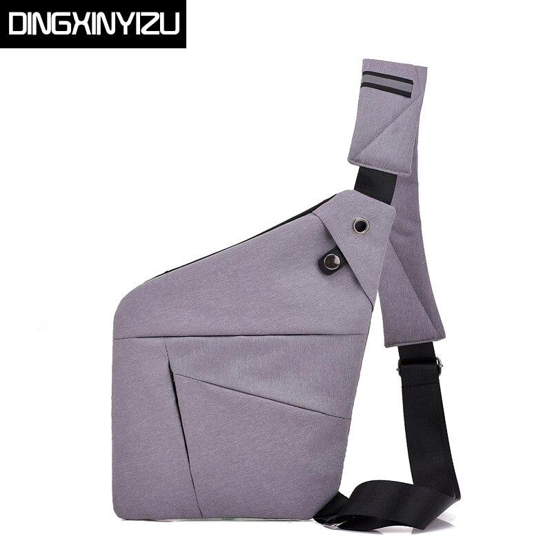 795b7bcdfcc8 Dingxinyizu новый Оксфорд Повседневная нагрудная сумка для мужчин один  плечевой ремень сзади сумка Мода многофункционал путешествия
