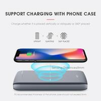 10000mAh Portable Power Bank Qi Wireless Charger For iPhone Samsung S6 S7 S8 Mobile Phone Wireless Charger Powerbank