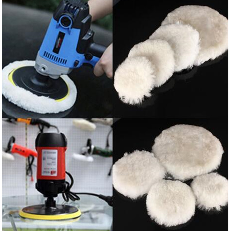 1 Pcs Wool Pads Waxing Polishing Buffing Pad Wheel Car Auto Car Paint Care Polisher Pads 4/5/7inch