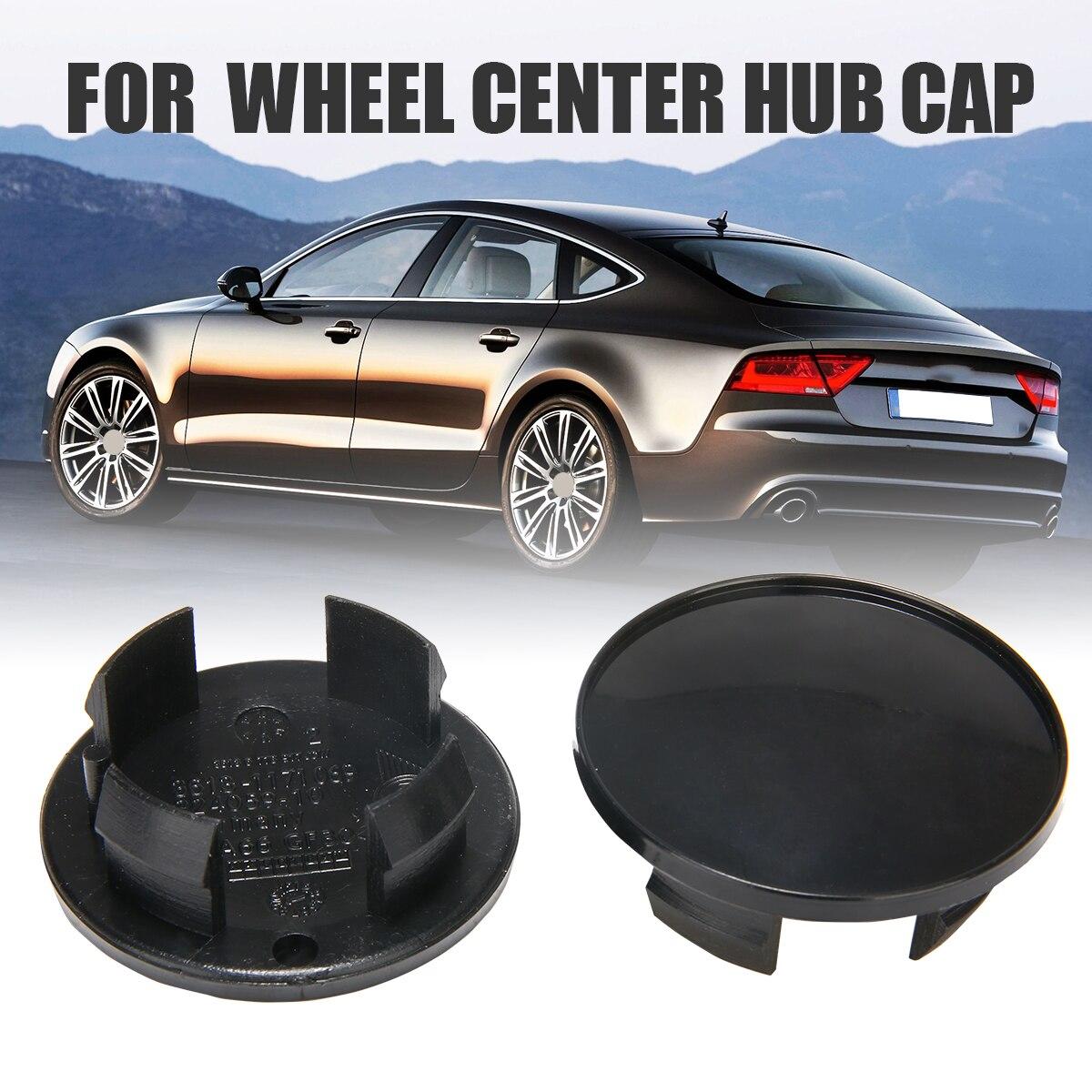 4Pcs jinshan689 Wheel Centre Hub Caps 69mm for Audi Badge Emblem 4B0601170A Black