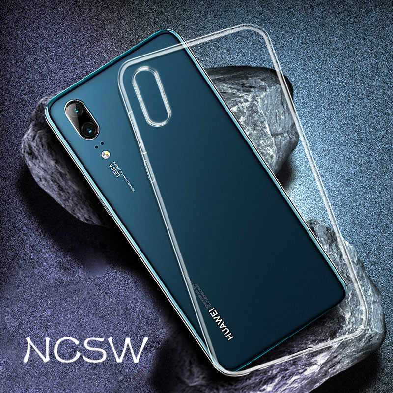 NCSW For Huawei P30 P20 Lite P9 P10 Nova 3 3i Mate20 Lite Pro Ultra Thin Soft TPU Case On Honor 8X MAX 8C HD Transparent Conque
