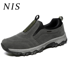 NIS Outdoor Men Sneakers Climbing Hiking Sport Shoes Spring Slip On Faux Leather Flat Work Casual Shoes For Men Large Size 39-45