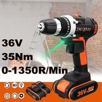 36V Electric Screwdriver Lithium Battery Rechargeable Parafusadeira Furadeira Multi function Cordless Electric Drill Power Tools