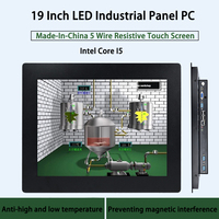 19 Inch LED Industrial Panel PC,5 Wire Resistive Touch Screen,Intel Core I5,Windows 7/10/Linux Ubuntu,[HUNSN WD02]
