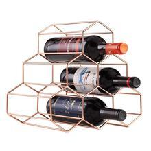 Винный Стеллаж для вина, виски, металлическая полка для 6 бутылок, кухонный держатель для бутылки вина, подставка-органайзер для любителей вина