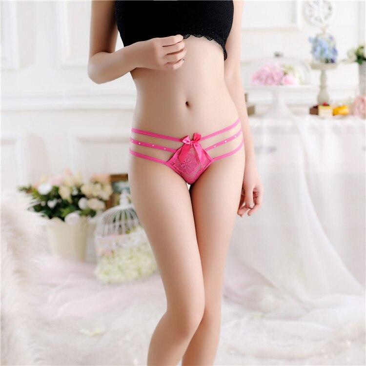 7color Lace Women Sexy Temptation Lingerie Thongs G-string Underwear Panties Briefs Ladies G-string T-back 118
