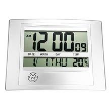 Stylish Wall Clock Digital LCD Temperature Calendar Hanging Indoor Home Office Decor