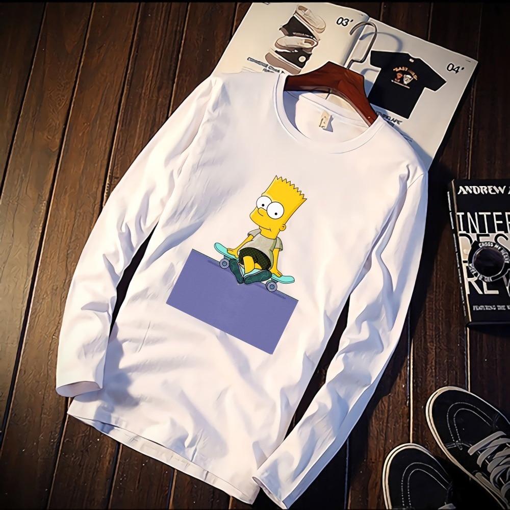 Fashion Short Sleeve T Shirt Cool Simpson Movie Figures Printed 100% Cotton Top Tees Casual O Neck T Shirt Unisex Female TShirt|T-Shirts|   - AliExpress
