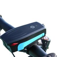Rechargeable USB Bicycle Handlebar Light Bike 2000mah lithium battery. Flashlight With Horn
